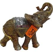 Слон из полистоуна (KL-141A) с попоной 12,5 см