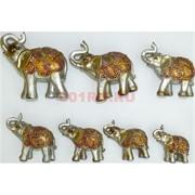 7 слонов набор (KL-1333) из полистоуна