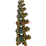 7 слонов «пирамида» (Kl-1121) из полистоуна 29 см высота