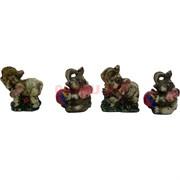 Набор 6 слоников (KL-1123) из полистоуна