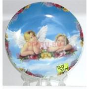 Тарелка декоративная с подставкой 13 см (KL-1318)