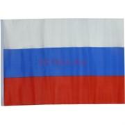 Флаг РФ триколор атласный без герба 90x145 см