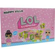 Домик Happy Villa для куклы LOL 12 шт/уп