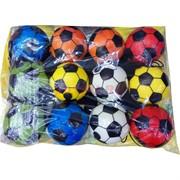 Мячик футбольный мягкий на резинке цена за 12 шт