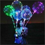 Светящийся шар Бобо светодиодный LED на палочке 3 м