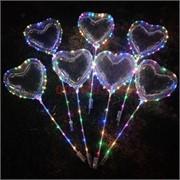 Шар Бобо Сердце светодиодный на палочке 3 м