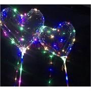 Шар Бобо Сердце светодиодный на палочке 10 м