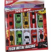 Машинки малые металл 10 шт Tech Metal Racing