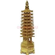Пагода металлическая 13 см под золото