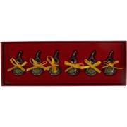 Тыква Ву Лу металлическая цветная набор из 6 шт