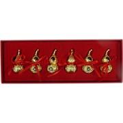 Тыква Ву Лу металлическая золото набор из 6 шт