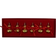 Тыква Ву Лу под золото с иероглифами набор из 6 шт