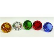 Кристалл «бриллиант» 5 см с буддийскими текстами (цена за набор 5 шт)