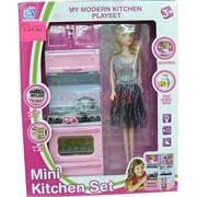 Кукла с кухонной мебелью Mini Kitchen Set