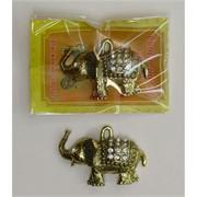 Кошельковый амулет Слон со стазами