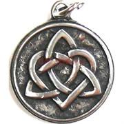 Амулет индийский «кельтский треугольник в сердце»