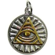 Амулет индийский «пирамида с глазом» цветной
