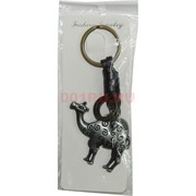 Брелок металл + кожа «верблюд»