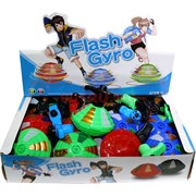 Игрушка юла светящаяся Flash Gyro 12 шт с музыкой