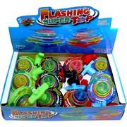 Игрушка юла светящаяся Flashing Super Top 12 шт с музыкой