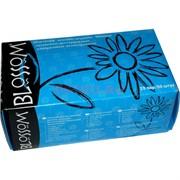 Перчатки Blossom латексные размер M 25 пар диагностические синие