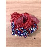 Браслет с красной ниткой и сглазом большим (D-1519) цена за 100 шт