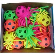Игрушка детская «пауки» с гидрогелем 12 шт/уп