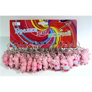 Брелок Свинка розовая резиновая 12 шт/уп