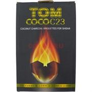 Уголь для кальяна Tom Coco 23 мм кокосовый 1 кг 72 кубика