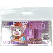Магнит символ 2019 года Свинья «500 евро»
