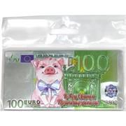 Магнит символ 2019 года Свинья «100 евро»
