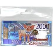 Магнит символ 2019 года Свинья «2000 рублей»