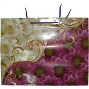 Пакет подарочный с цветами 40x31 горизонтальный 20 шт/уп