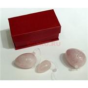 Тренажер для развития интимных мыщц из розового кварца