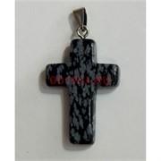 Крестик 4 см из обсидиана
