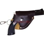 Сувенирная Зажигалка пистолет в кобуре малый