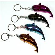 Зажигалка газовая «дельфины» 4 цвета брелок