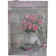 Пакет подарочный бумажный цветочный 32х45 см 20 шт\уп