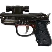 Зажигалка сувенир пистолет с оптическим прицелом + лазер