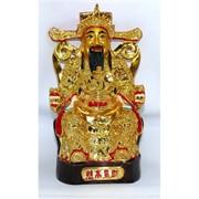 Бог богатства из полистоуна под золото 26 см (NS-08A)