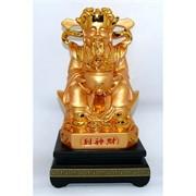Бог богатства под золото на подставке 26 см (NS-08B)