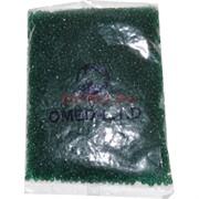 Бисер №6 (3,6 мм) зеленый прозрачный №27 450 грамм