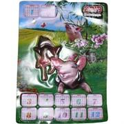 Календарь со свинками выдавленный 2019 символ года Свинья (Кабан)