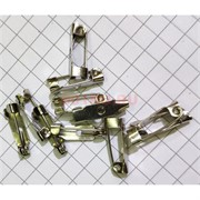 Фурнитура основа для броши цвет металл 1000 шт/уп 1 размер 15 мм
