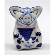 Свинка гжель керамика 7,5 см