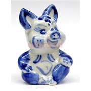 Свинка гжель керамика 6 см