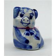 Свинка гжель керамика 8 см высота