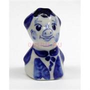 Свинка гжель керамика 5,5 см высота