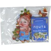 Магнит со Свинкой «почта от Деда Мороза»