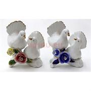 Два голубя с розами (NS-150X) цветной фарфор стразы